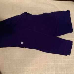 Navy lululemon pants with tie at the top!